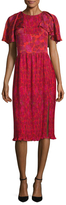 Prabal Gurung Pleated Print Chiffon Dress