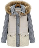 TRURENDI Women Vintage Fur Hooded Warm Winter Coat Thicken Parka Overcoat Long Jacket