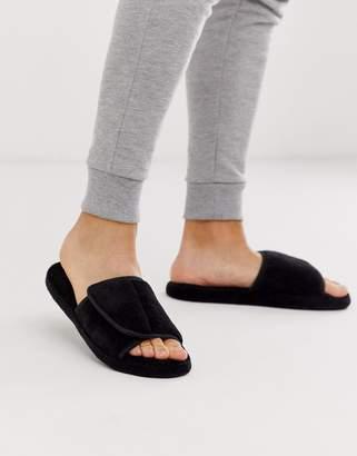 Asos Design DESIGN slider slippers in black