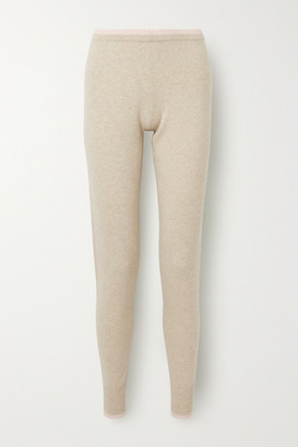 Madeleine Thompson Plutus Two-tone Cashmere Track Pants - Beige