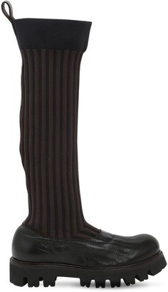 Rocco P. 30mm Elastic & Leather Boots