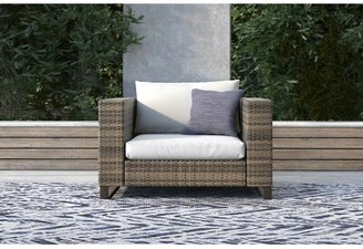 Tommy Hilfiger Oceanside Outdoor Wicker Patio Chair with Cushions