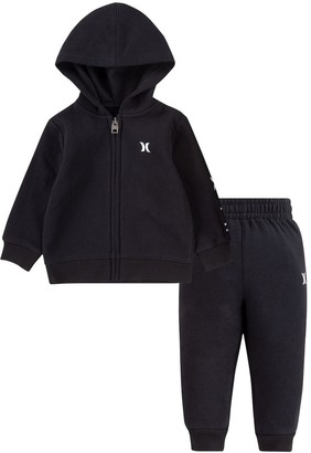 Hurley Baby Boy Fleece Zip Hoodie & Jogger Pants Set
