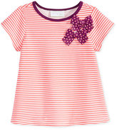 First Impressions Baby Girls' Stripes & Bows Top, Only at Macy's