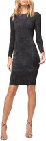 Diane von Furstenberg As By Mrs. Smith Stretch Suede Dress