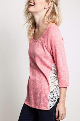 Umgee USA Lacey Knit Top