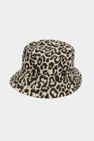 French Connenction Leopard Print Bucket Hat