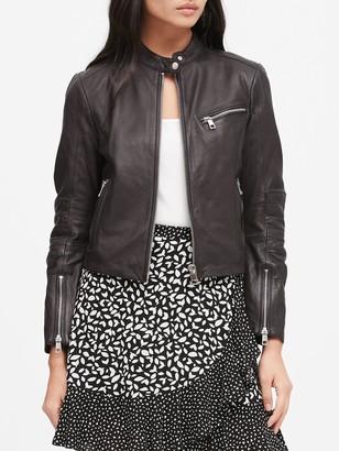 Banana Republic Leather Biker Jacket