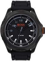 HUGO BOSS Hugo Honolulu Black Dial Black Silicone Strap Mens Watch