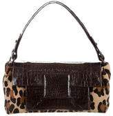 Nancy Gonzalez Crocodile & Ponyhair Bag