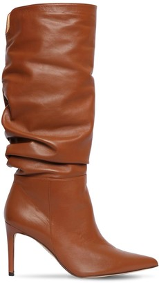 Alexandre Birman 85mm Lucy Slouchy Leather Boots