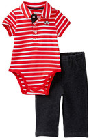 Little Me Car Polo Pant Set (Baby Boys)