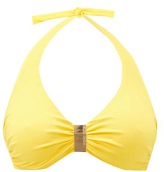 Melissa Odabash Provence Halterneck Underwired Bikini Top - Yellow