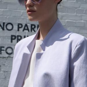 Negarin London - Noelle Mallow Cotton Coat - 36 - Purple