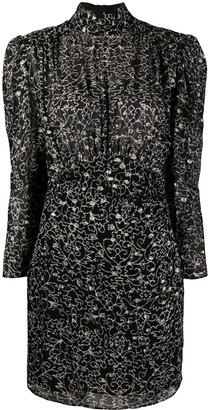 BA&SH Acia floral-print mini dress