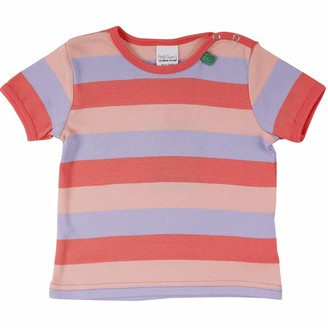 Green Cotton Fred's World by Baby Girls' Multi Stripe S/s T Shirt