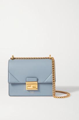 Fendi Kan U Small Leather Shoulder Bag - Blue