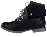 Rock & Candy Womens Spraypaint-h Closed Toe Ankle Fashion Boots, Black, Size 5.5.