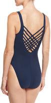 Letarte Lattice-Back One-Piece Swimsuit