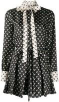 Valentino VLOGO print mini dress