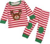 XUNYU Baby Girls Boys Striped Outfits 2pc Christmas Homewear Pajama Sets Sleepwear
