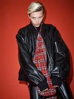 [Unisex] Faux Leather Super Oversize Ma1