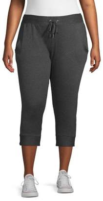 New York Laundry Women's Plus Size Athleisure French Terry Joggers