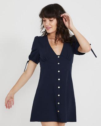 Subtitled Barbra Plunge Button Dress