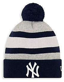 New Era Men's EK New York Giants Striped Knit Beanie