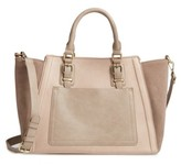 Sole Society 'Jensen' Mixed Media Tote - Beige