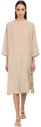 Max Mara Silk Crepe De Chine Caftan Dress