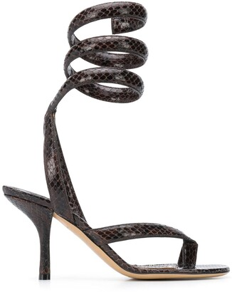 Bottega Veneta Spiral Ankle Strap 80mm Sandals