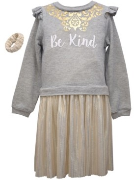 "Bonnie Jean Toddler Girls 2 Piece ""Be Kind"" Boudre Dress Set"