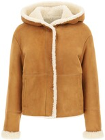 Thumbnail for your product : Drome SUEDE AND SHEARLING COAT S Brown, White Leather, Fur