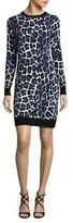 MICHAEL Michael Kors Animal Print Sweater Dress