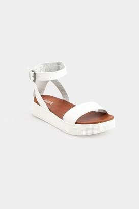 Mia Ellen Sneaker Bottom Sandals - White