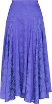 Chloé silk jacquard midi skirt