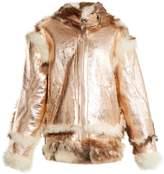 Marques Almeida MARQUES'ALMEIDA Oversized-buckle shearling jacket