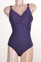 Fantasie Swimwear Womens Montreal Knot Front One-Piece Swimsuit Purple 34H