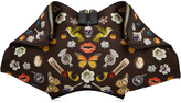 Alexander McQueen De Manta Printed Clutch with Leather
