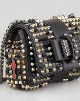 Christian Louboutin Sweet Charity Studded Crossbody Bag, Black