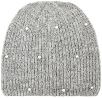 Accessorize Girls Pearl Beanie Hat - Grey