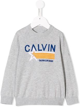 Calvin Klein Kids embroidered logo jumper