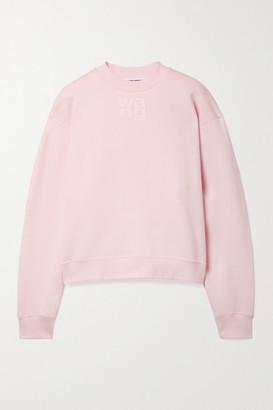 alexanderwang.t Printed Cotton-blend Jersey Sweatshirt - Pink