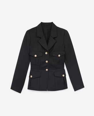 The Kooples Fitted stretchy black jacket
