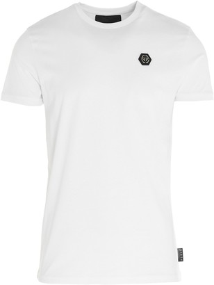 Philipp Plein Logo Embroidered T-Shirt