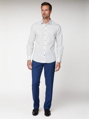 Jeff Banks White Geo Floral Print Slim Fit Shirt