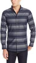 Perry Ellis Men's Slim Fit Horizontal Stripe Shirt