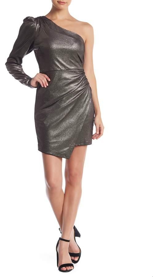 Do & Be Do + Be Metallic One Shoulder Dress
