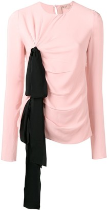 No.21 bow detail ruched top